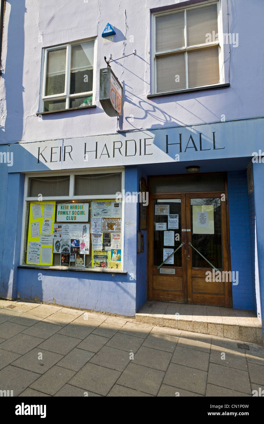 The Keir Hardie Hall working mens club in St Gregory's Alley, Norwich, Norfolk, UK. - Stock Image