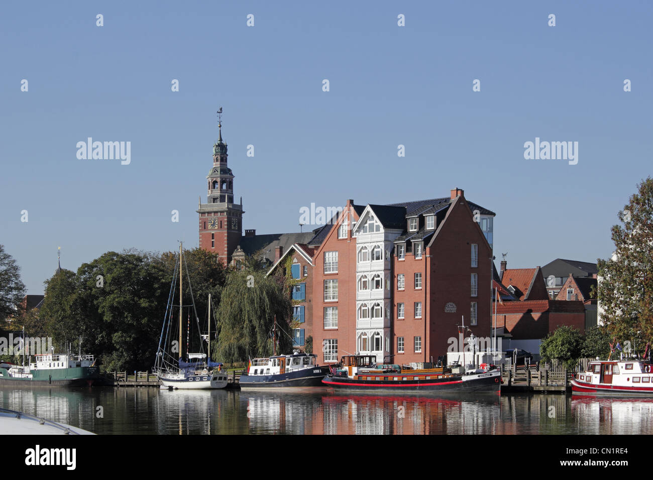 Germany Lower Saxony Leer Harbor - Stock Image