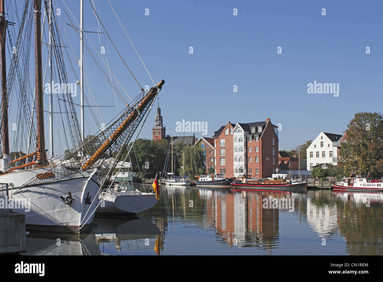 Leer Harbor Ship - Stock Image