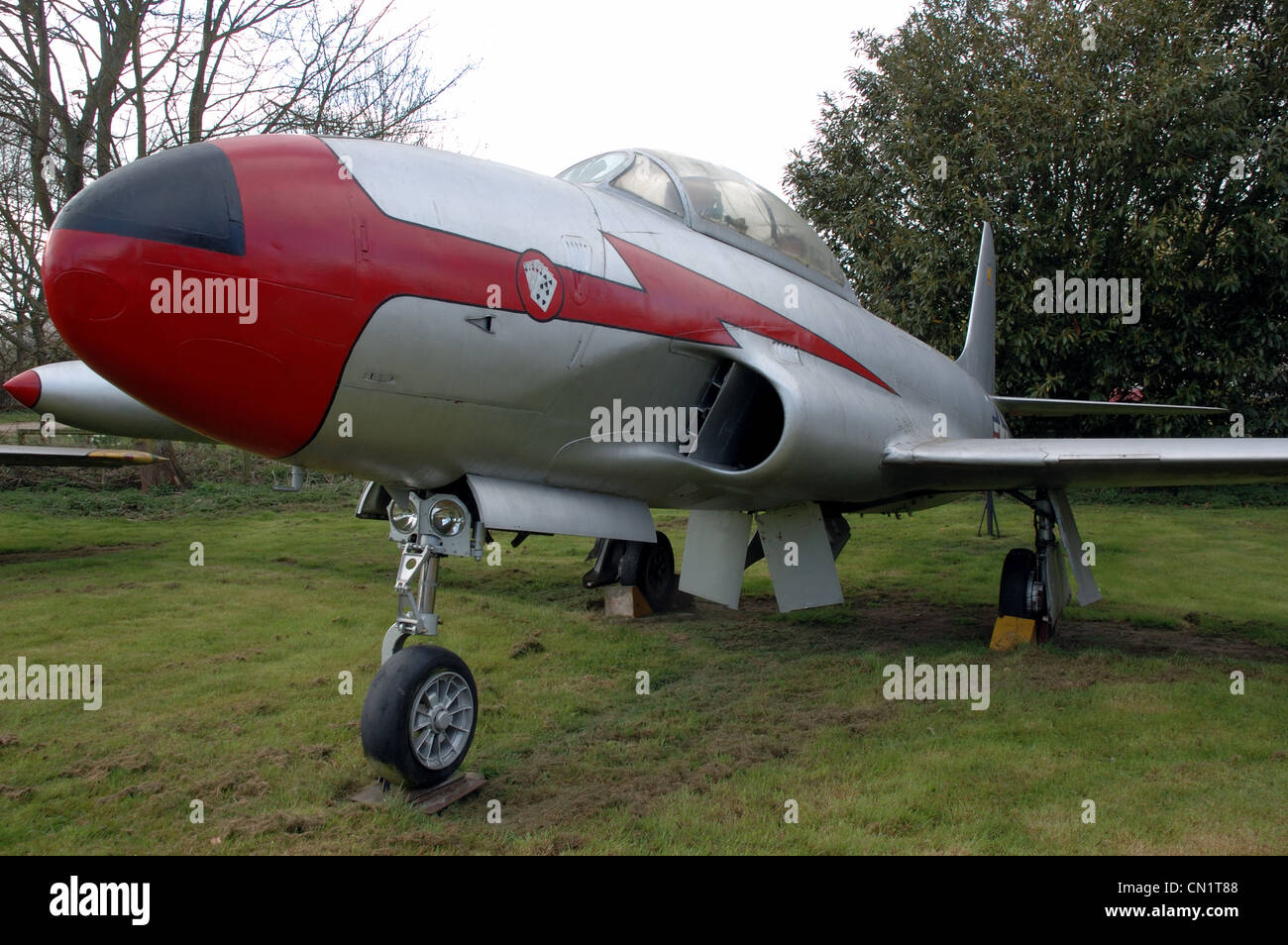 Lockheed T33A at Norfolk & Suffolk Aviation Museum, Flixton, UK - Stock Image