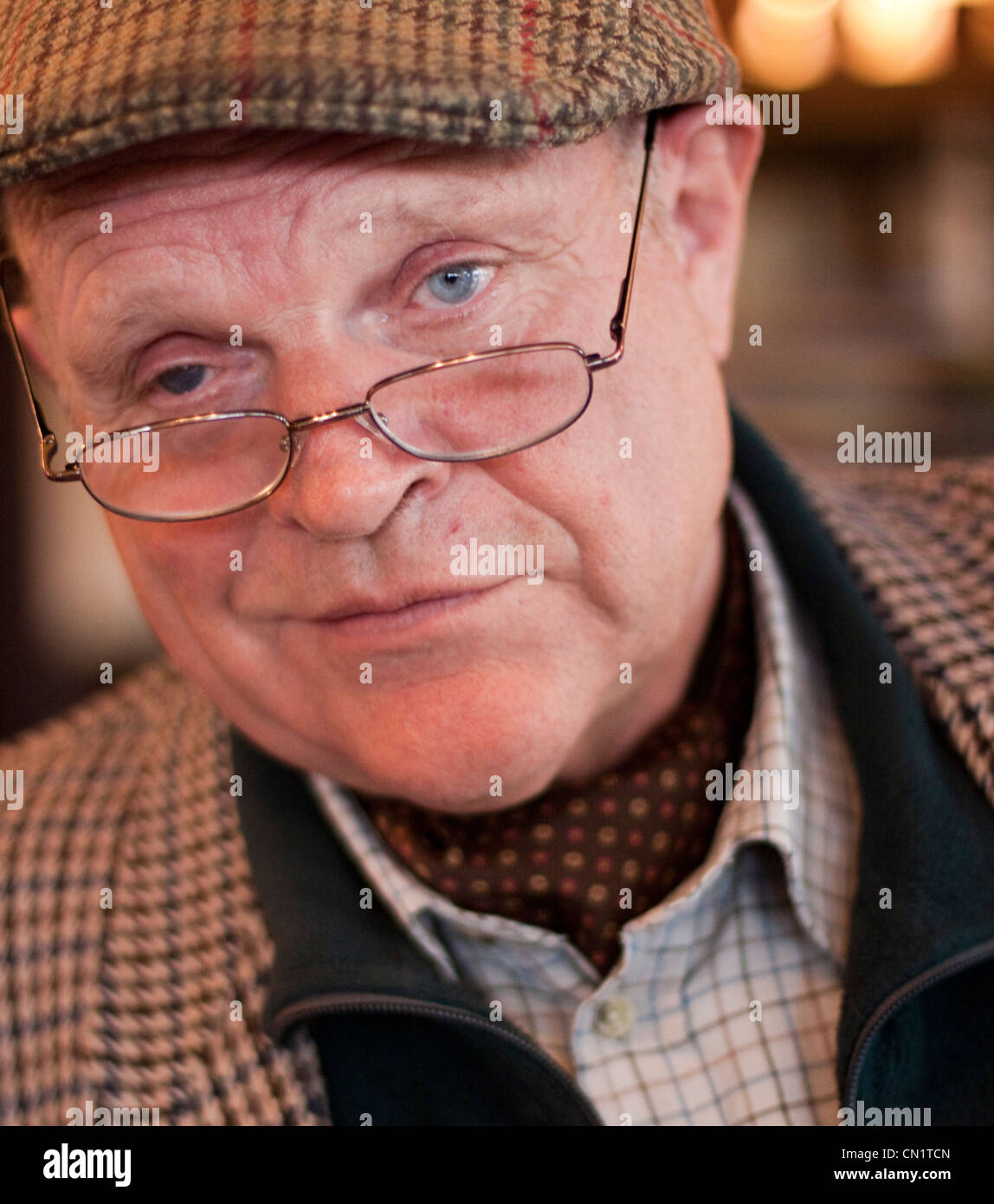 Suffolk raconteur, comedian and author Charlie Haylock. - Stock Image
