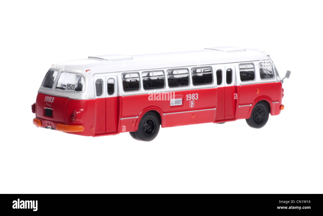 Model bus of Jelcz. - Stock Image