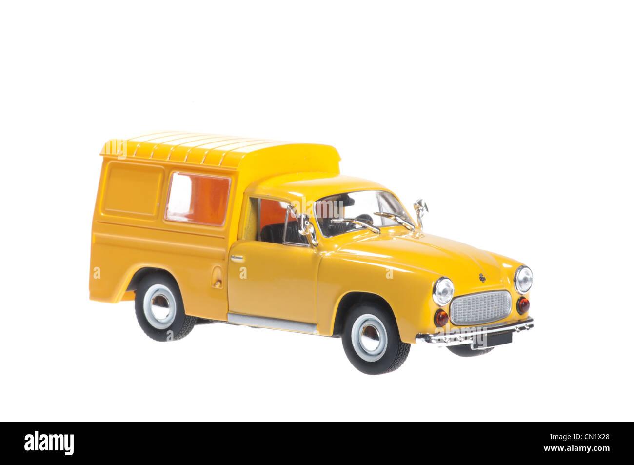 Syrena 105 Bosto yellow on white background. - Stock Image