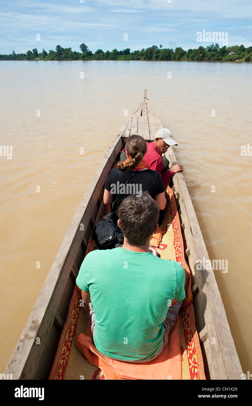 Cambodia, Ratanakiri Province, near Banlung (Ban Lung), San River - Stock Image
