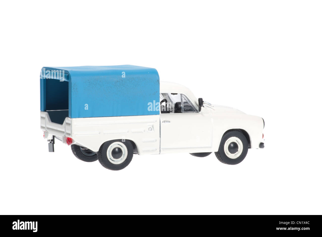 Syrena pick-up on white background. - Stock Image