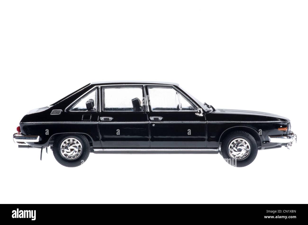 Black Tatra on white background. - Stock Image