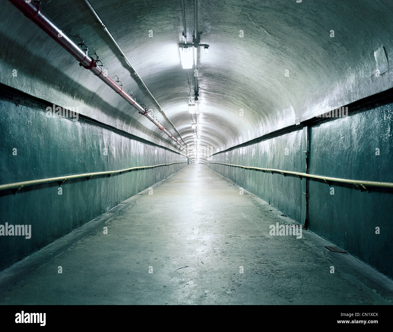 Empty tunnel, North Carolina, USA - Stock Image