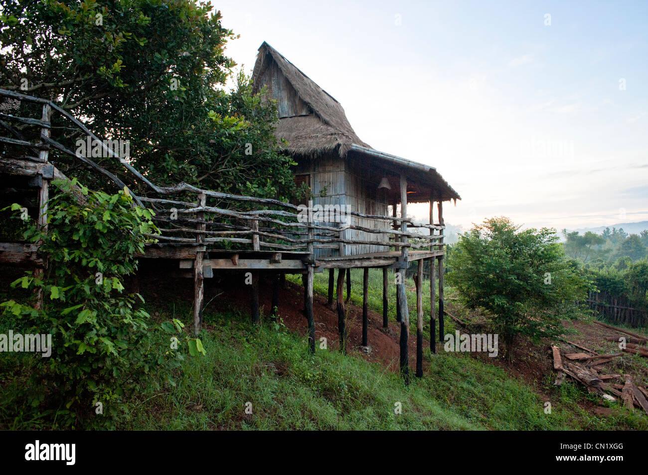 Cambodia, Ratanakiri Province, Banlung (Ban Lung), Tree Top Ecolodge - Stock Image
