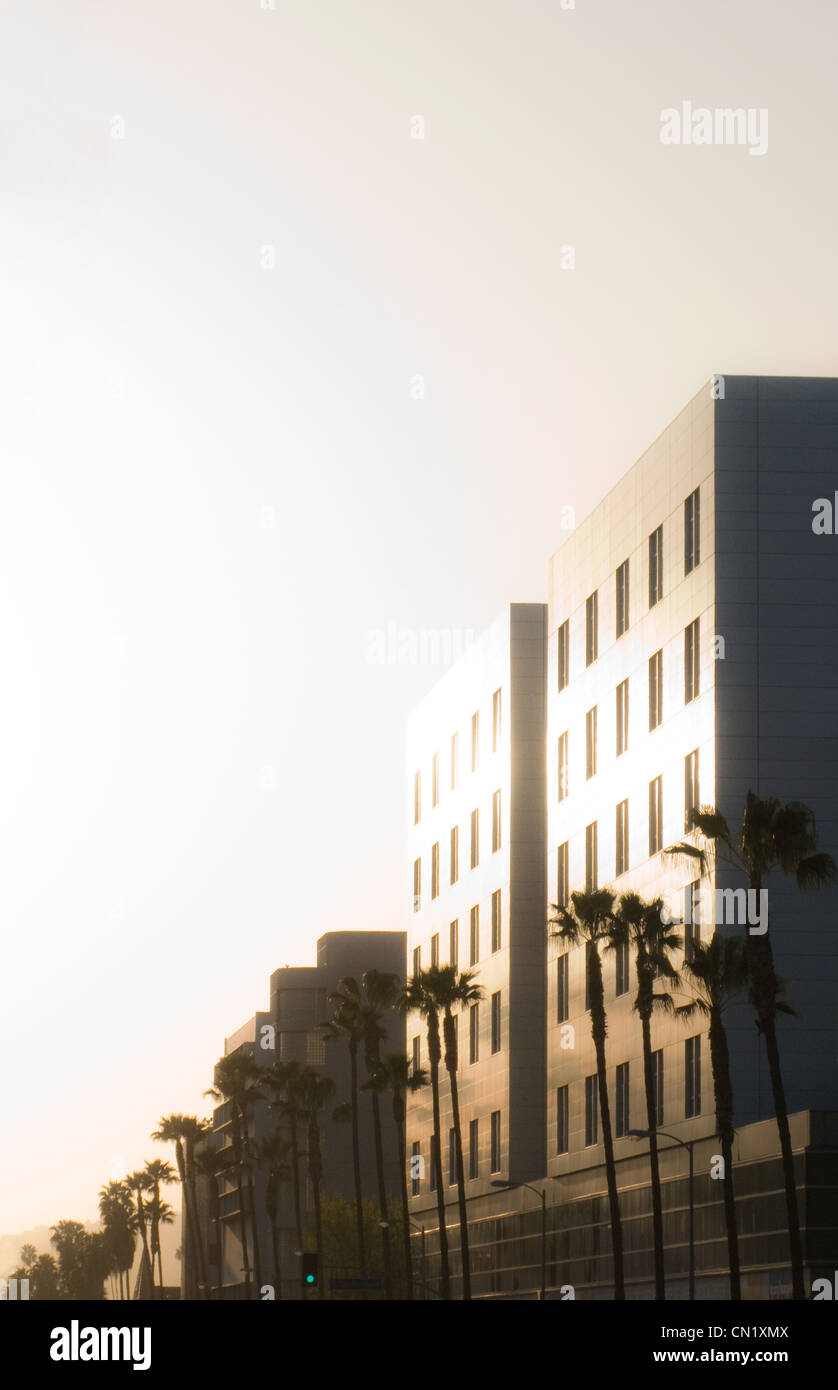 Building exteriors, Los Angeles, California, USA - Stock Image