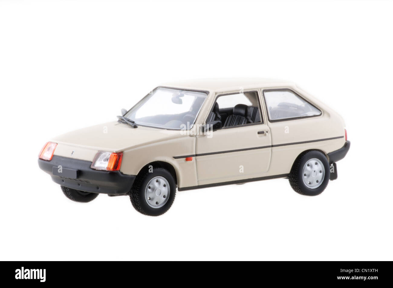 Tavria model car on white background. - Stock Image