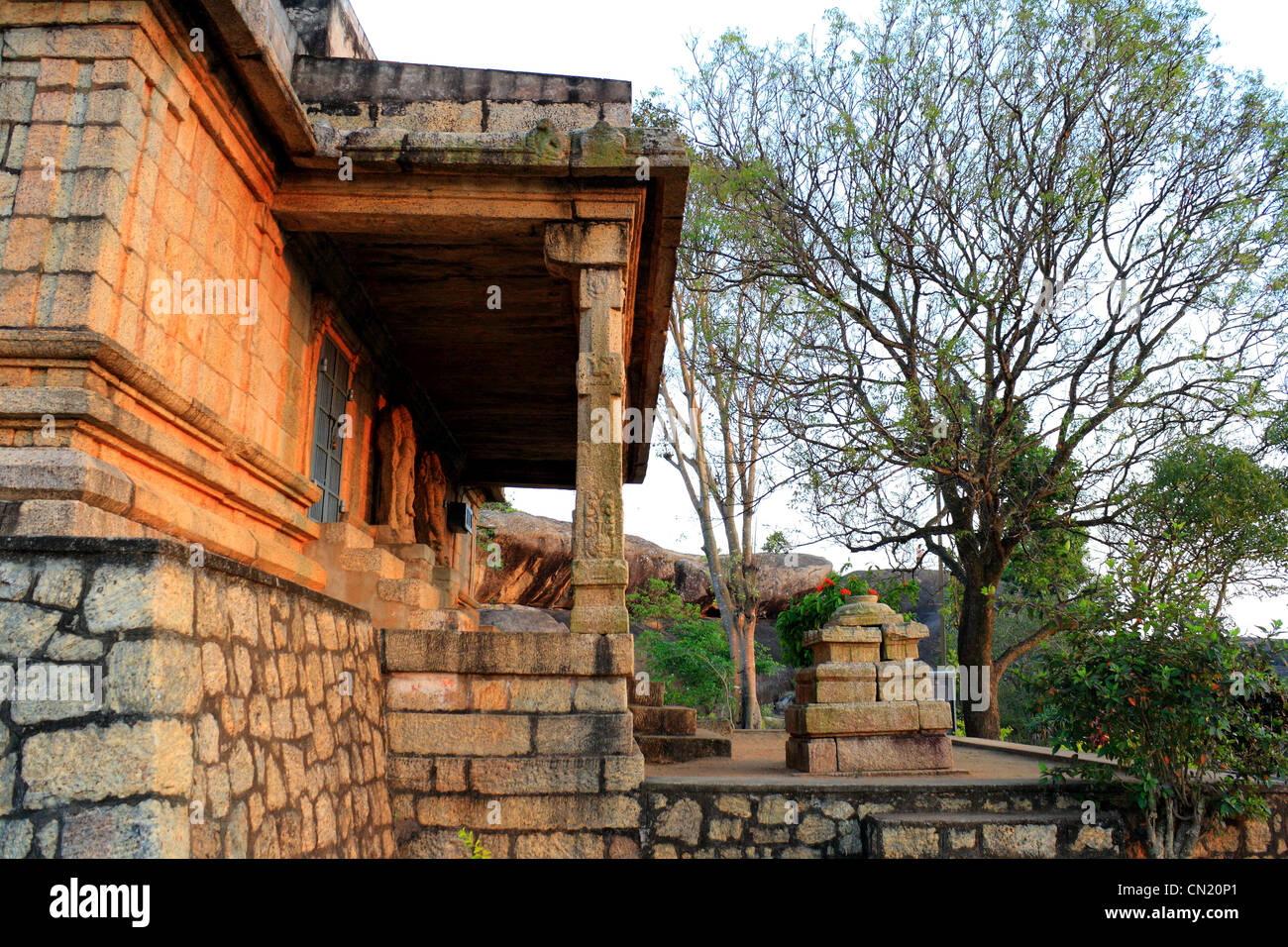 Chitral village is situated in Kanyakumari district, Tamil Nadu, South India. Temple was one of the most important - Stock Image