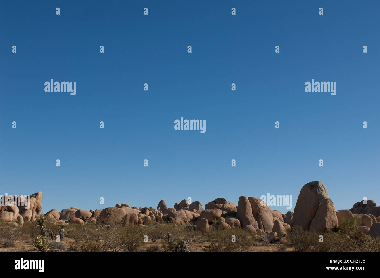 Rock formation, Joshua Tree National Park, Mojave Desert, California, USA - Stock Image