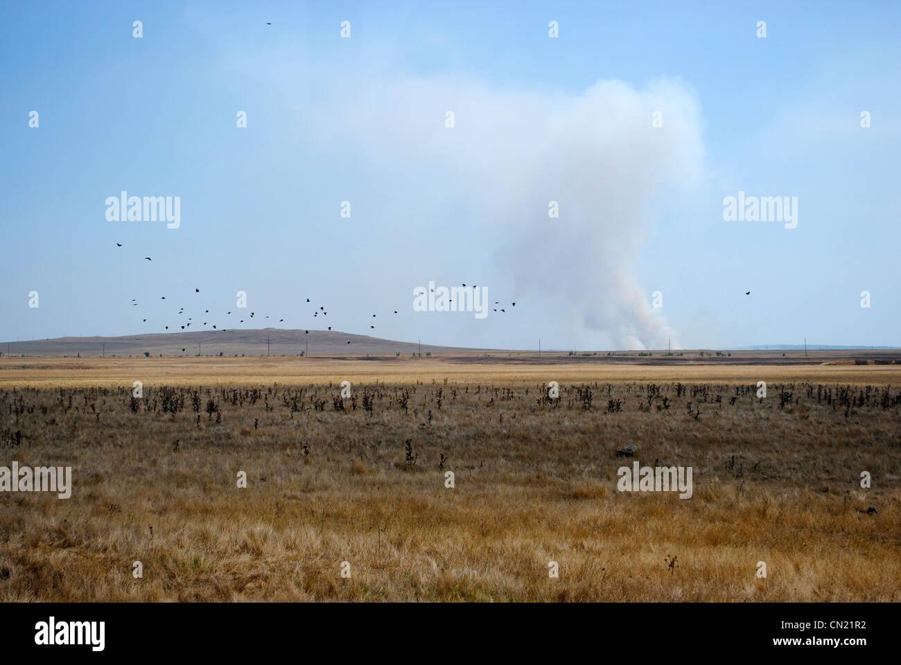 Ukraine. Autonomous Republic of Crimea. Landscape near Kerch. - Stock Image