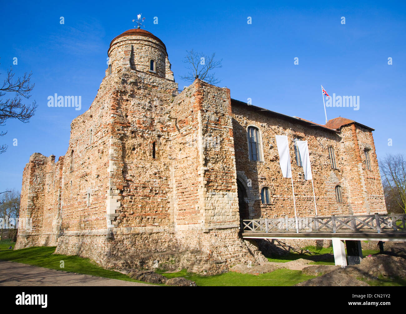 Colchester castle, Essex, England - Stock Image