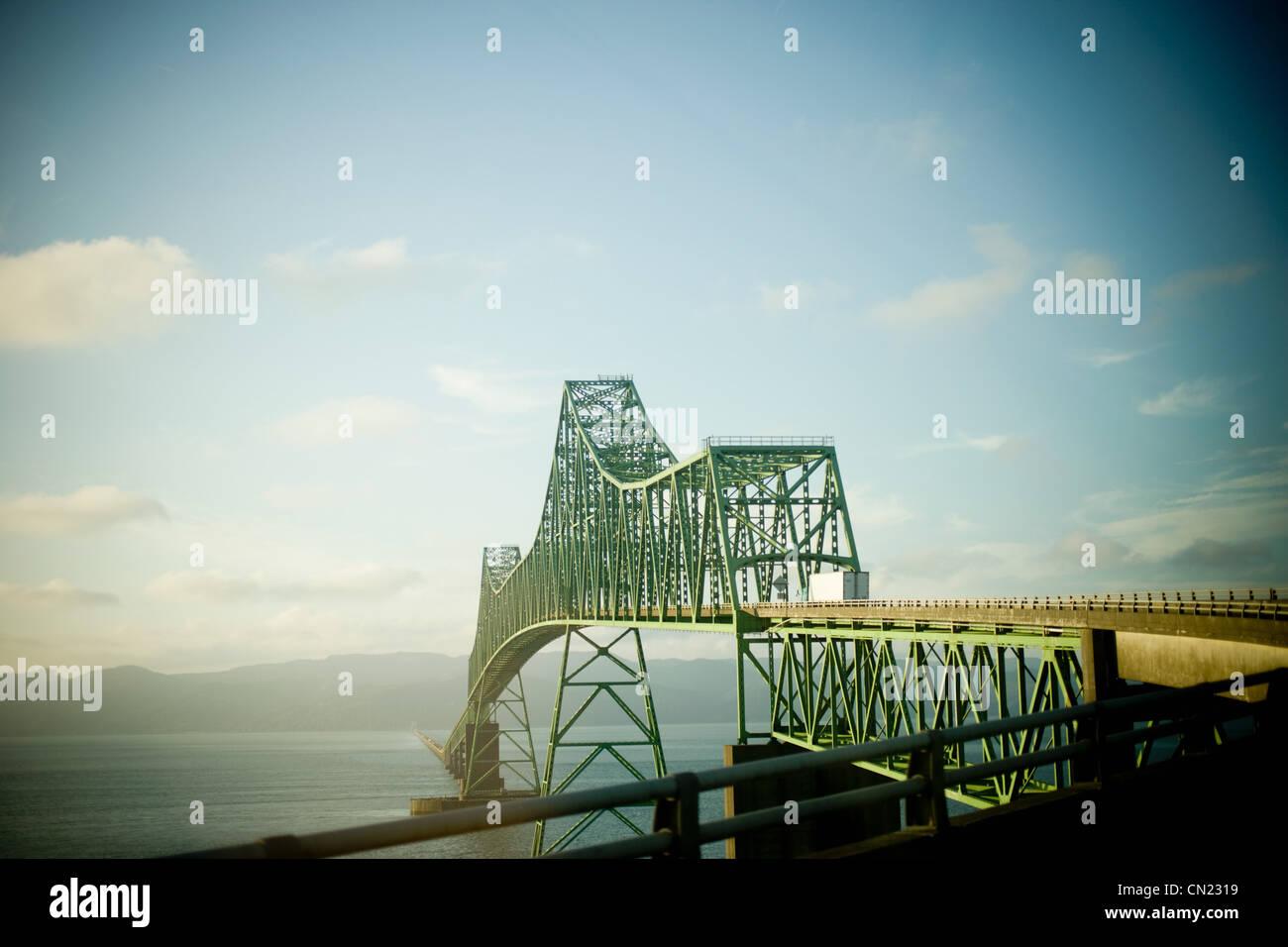 Bridge in Portland, Oregon - Stock Image