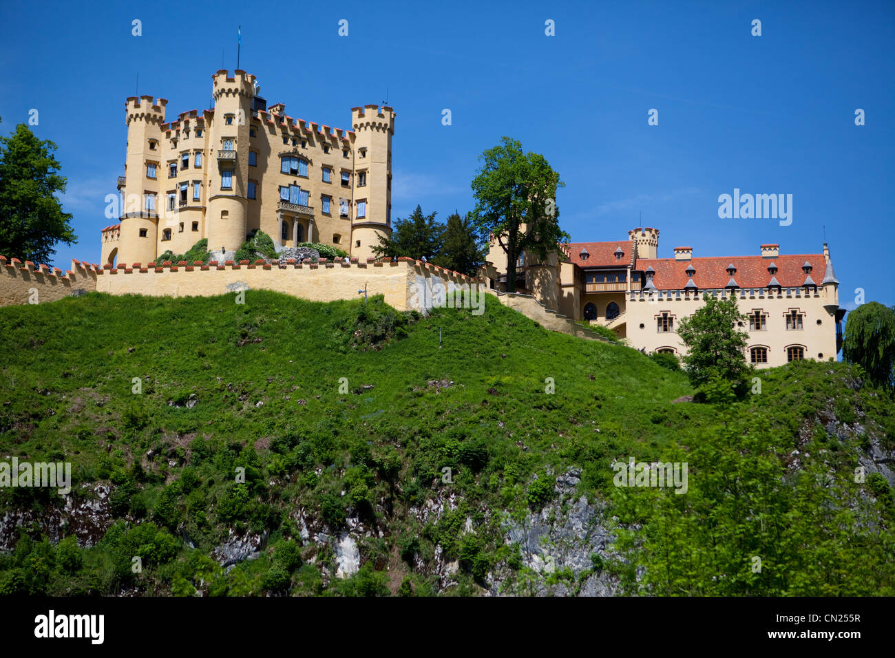 Hohenschwangue is a 19th century castle in southern Germany. It was the childhood residence of King Ludwig II of - Stock Image