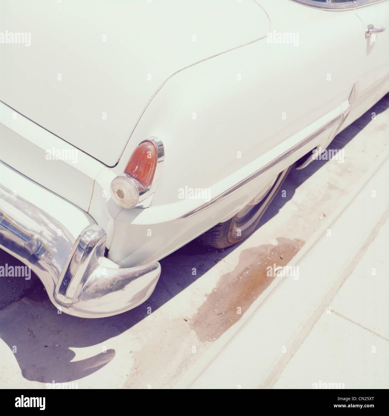 Vintage car, close up - Stock Image