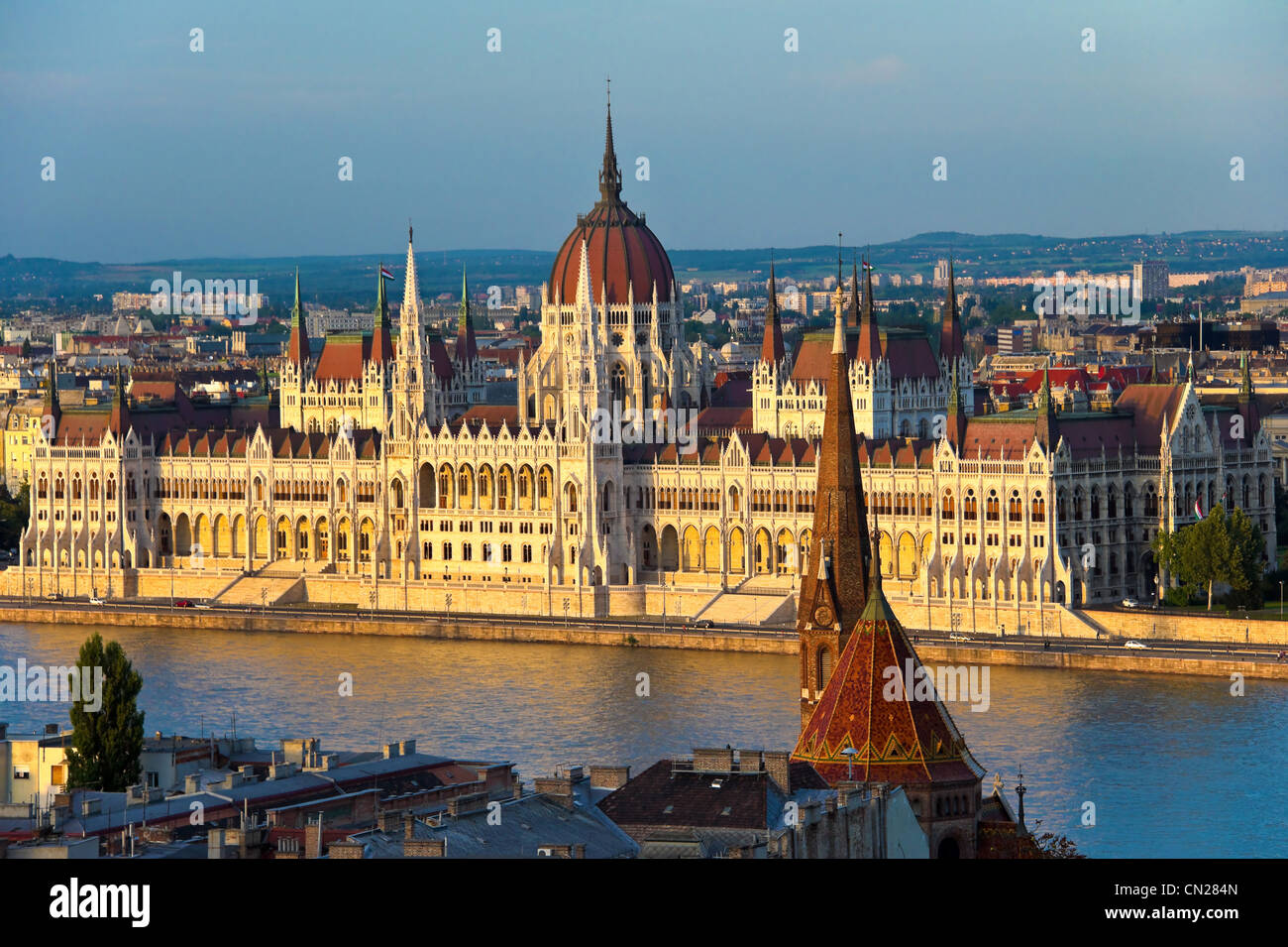 Houses of Parliament,Budapest,Hungary. - Stock Image