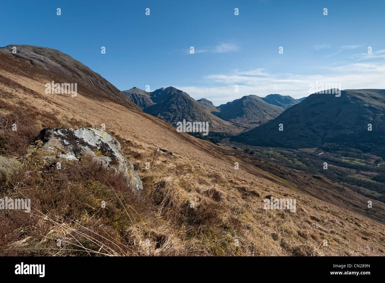 Scottish mountains and glens - Stock Image