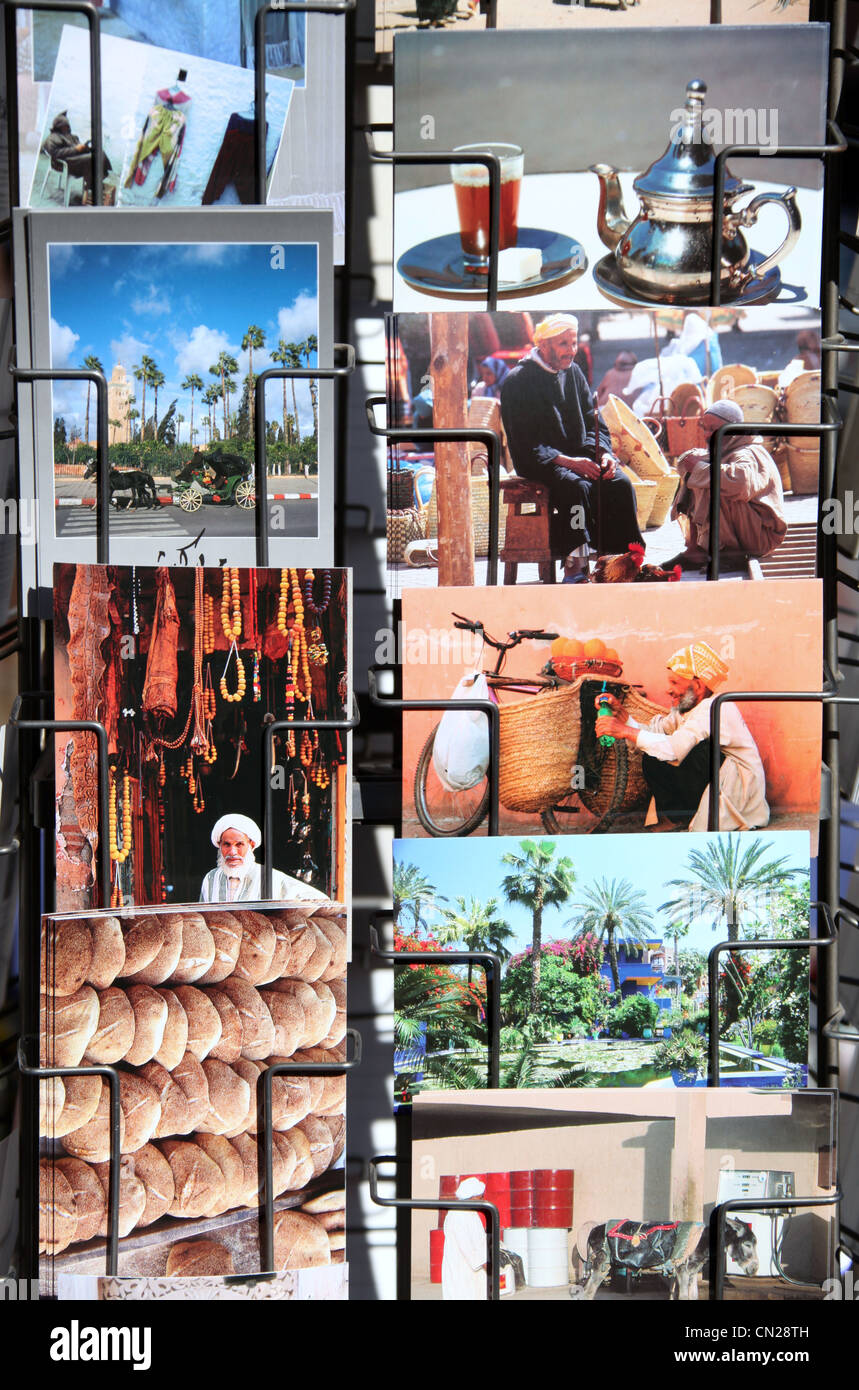 Postcards of Marrakech - Stock Image