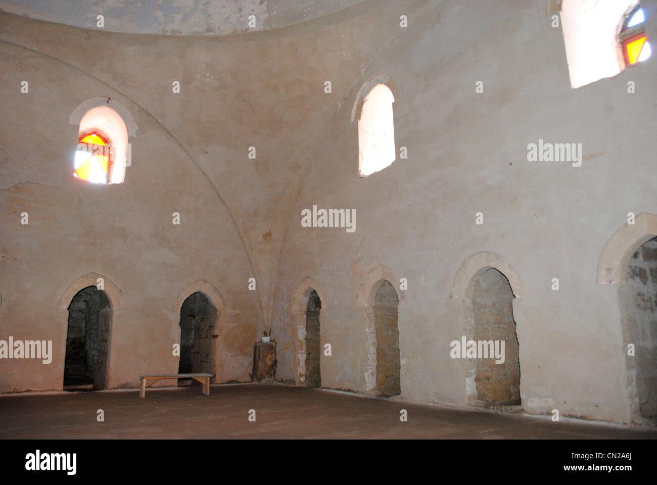 Ukraine. Autonomous Republic of Crimea. Yevpatoria. Dervish Tekke monastery. 15th century. Interior. - Stock Image