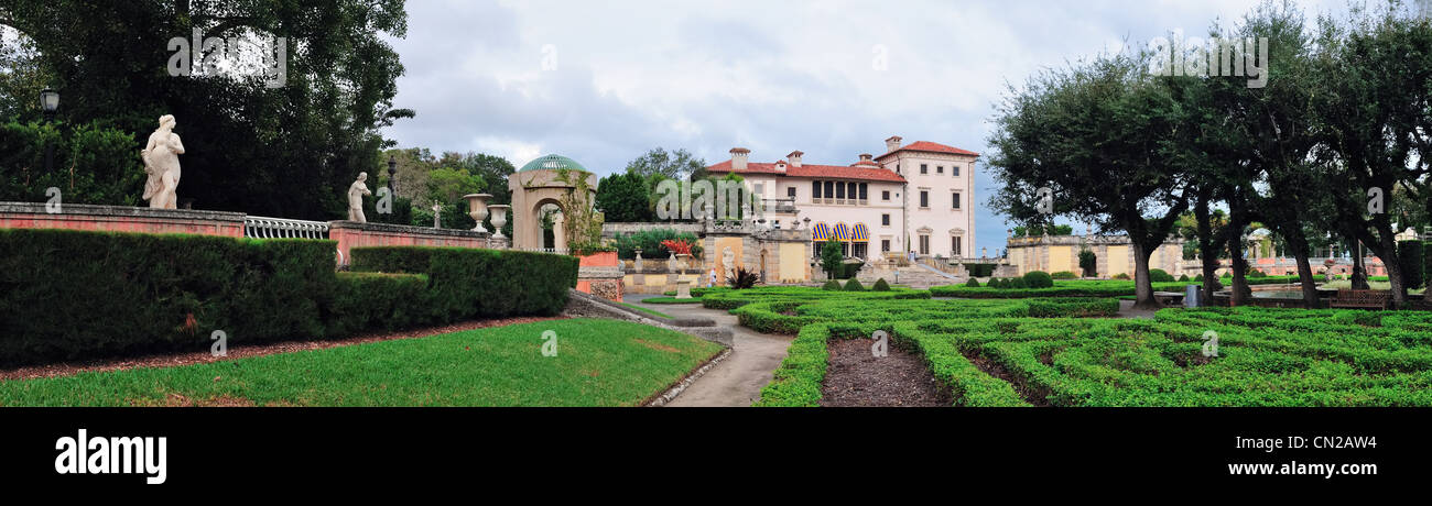 Miami Vizcaya museum garden view panorama Stock Photo 47380960 Alamy