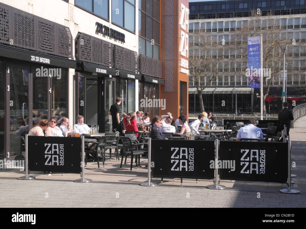Za Za Bazaar Restaurant Bristol - Stock Image