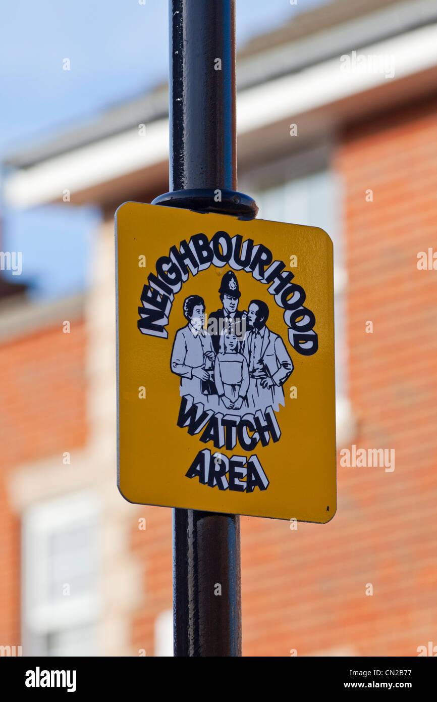 Neighbourhood watch area sign, UK - Stock Image
