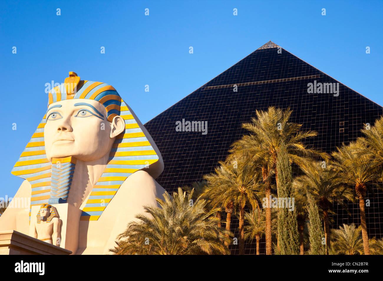 Sphinx And Pyramid The Luxor Hotel Las Vegas Nevada Usa Stock