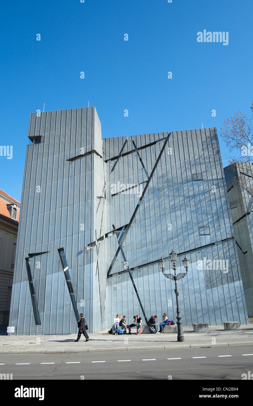 Jewish Museum in Berlin Germany designed by Daniel Libeskind - Stock Image