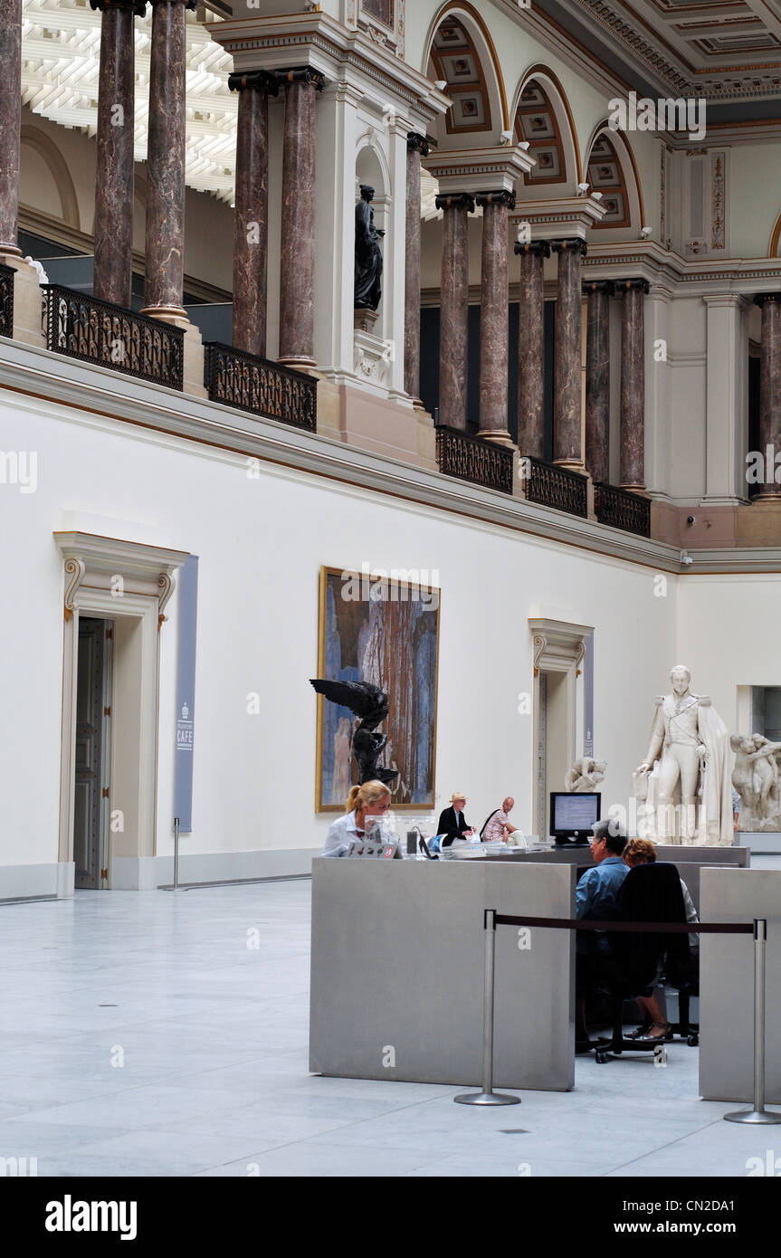 Belgium, Brussels, Royal Museums of Fine Arts of Belgium, Interior View - Stock Image