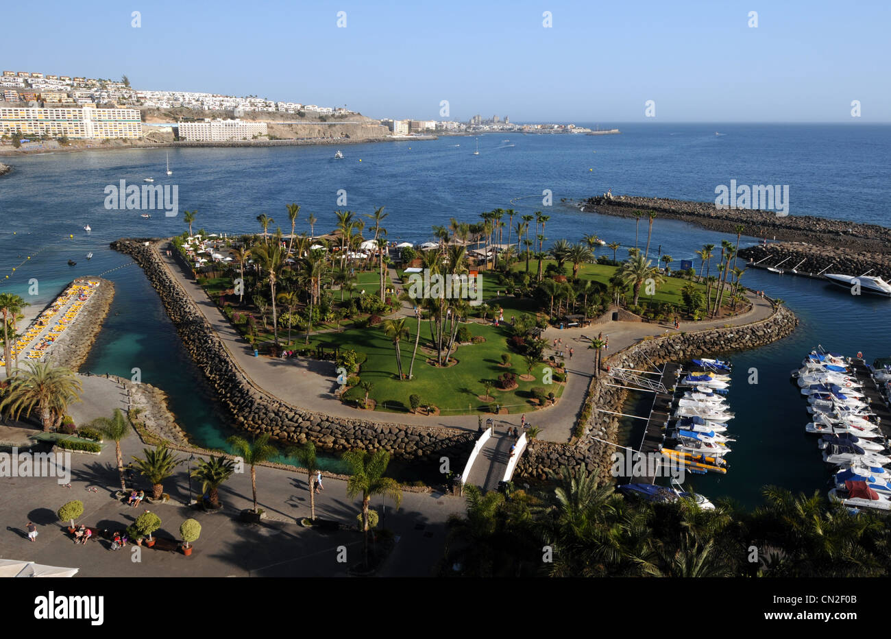 Anfi Del Mar Resort, heart shaped island, Gran Canaria, Canary Islands - Stock Image
