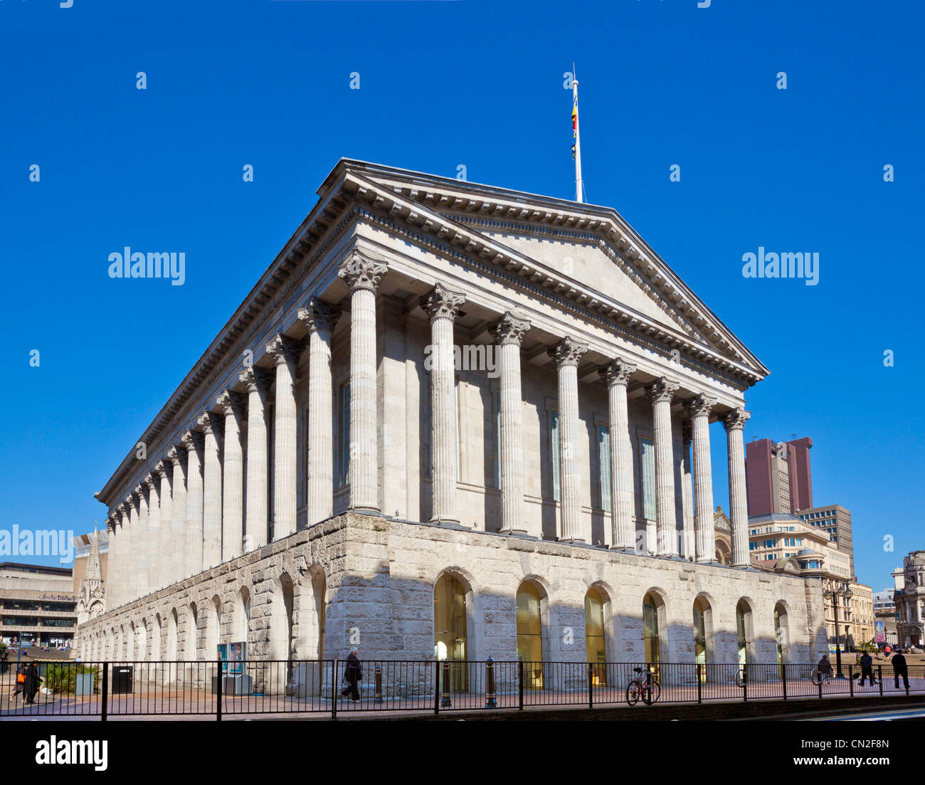 Birmingham town hall concert venue Victoria Square city centre West Midlands England UK GB EU Europe - Stock Image