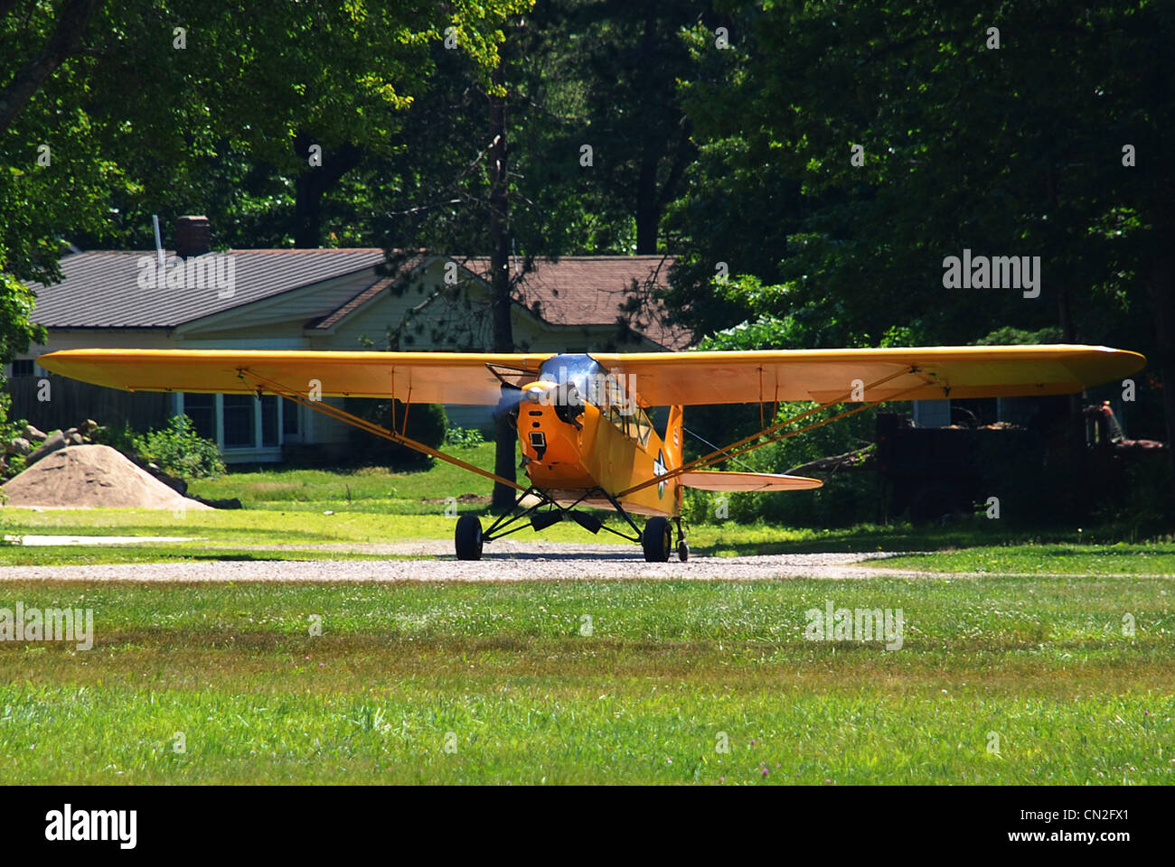 Piper Cub Taxiing - Stock Image