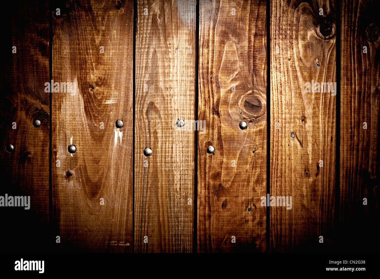 old brown wood plank background texture - Stock Image