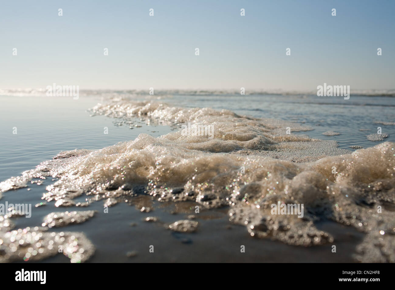 Sea surf at water's edge - Stock Image