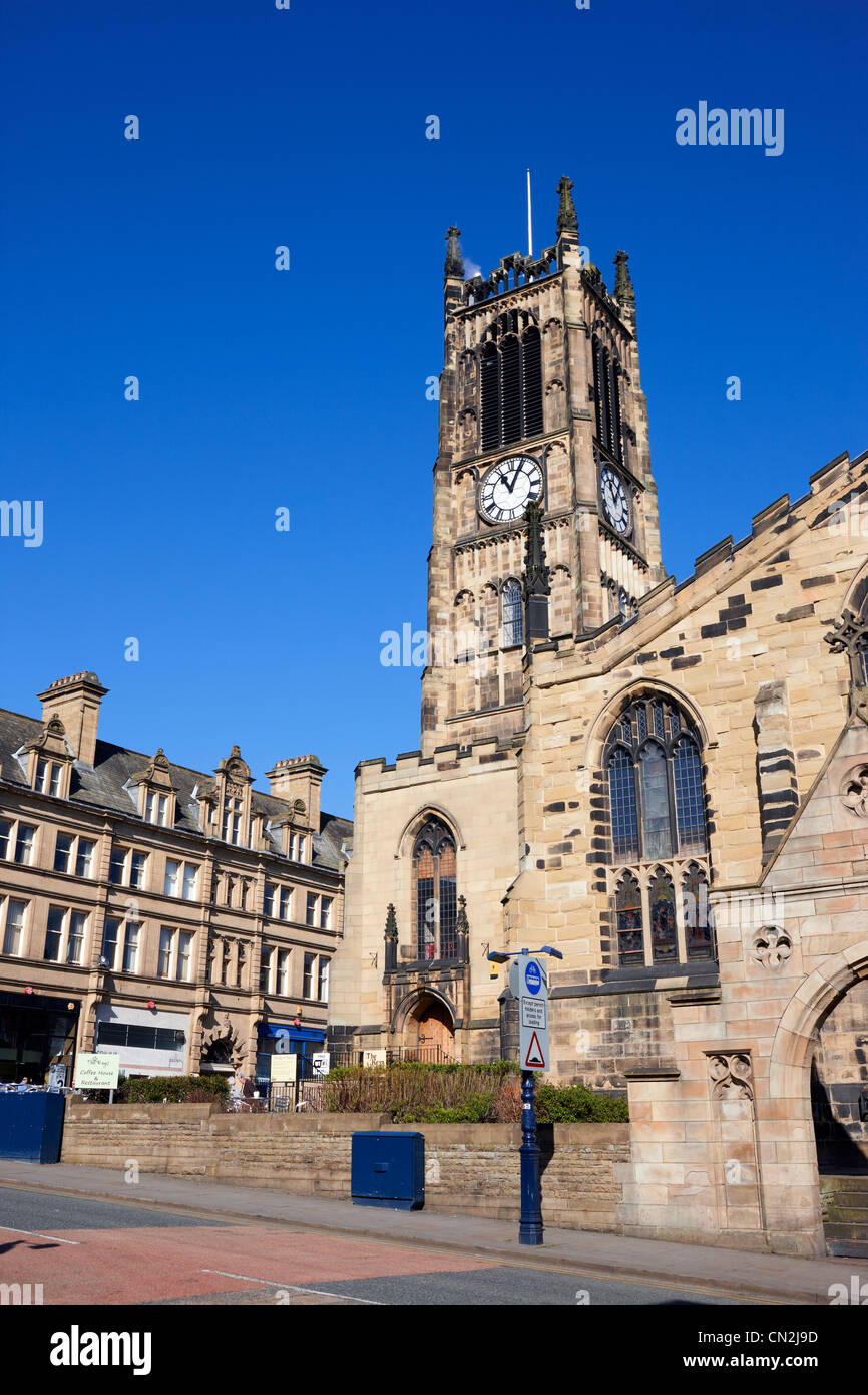 Huddersfield Parish Church of St. Peter in the town centre - Stock Image