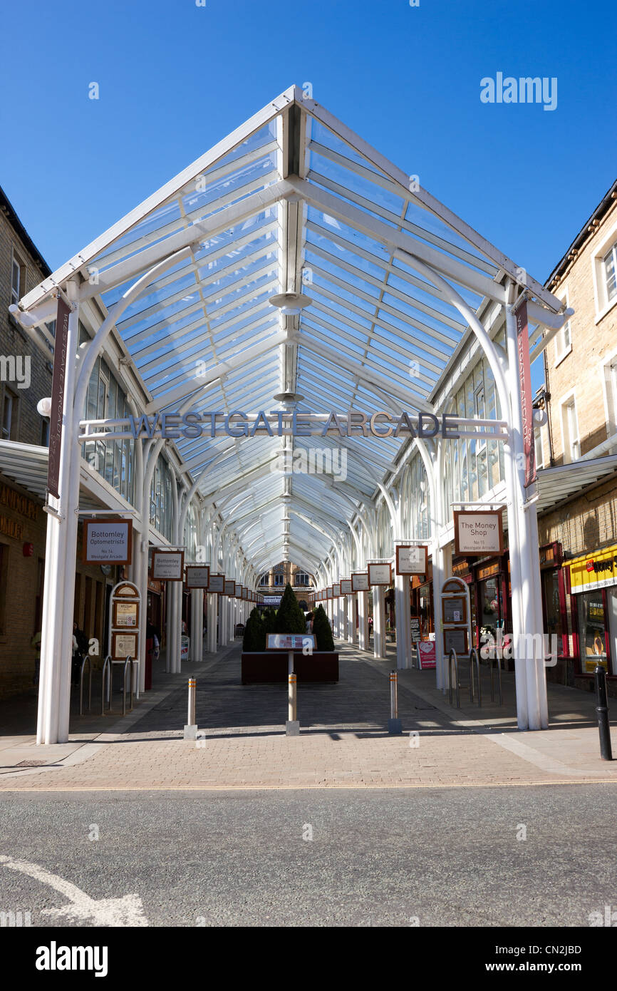 Halifax Westgate Shopping Arcade, West Yorkshire UK - Stock Image