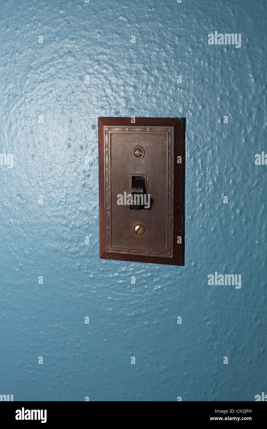 Light switch, close up - Stock Image