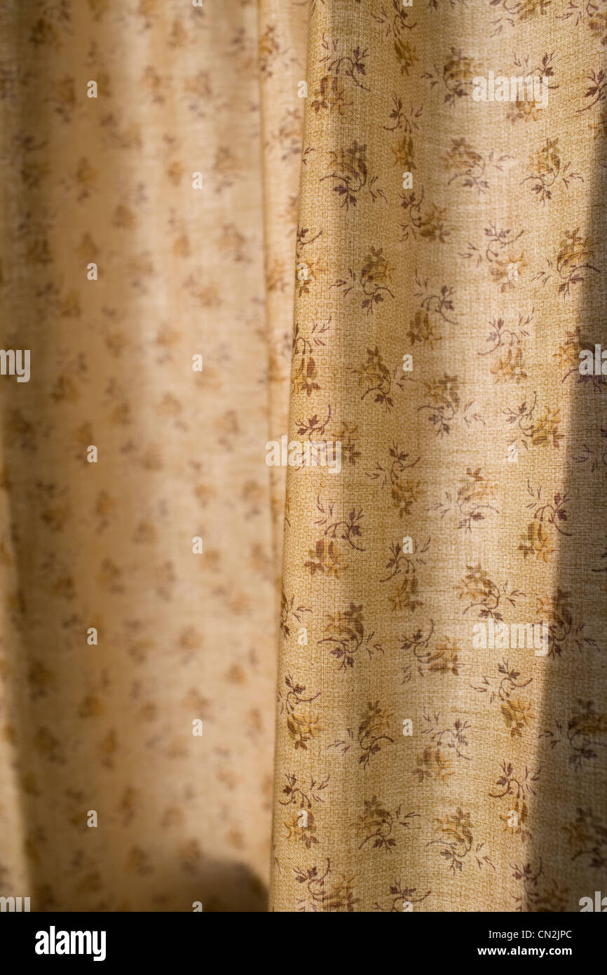 Patterned curtain - Stock Image