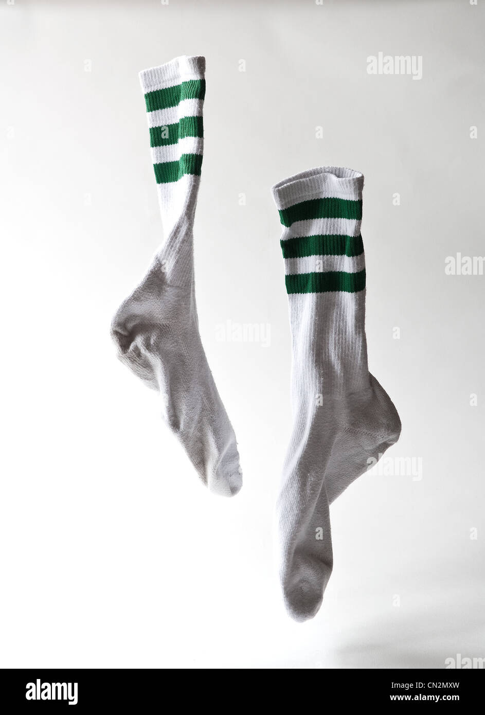 Pair of sports socks, studio shot - Stock Image