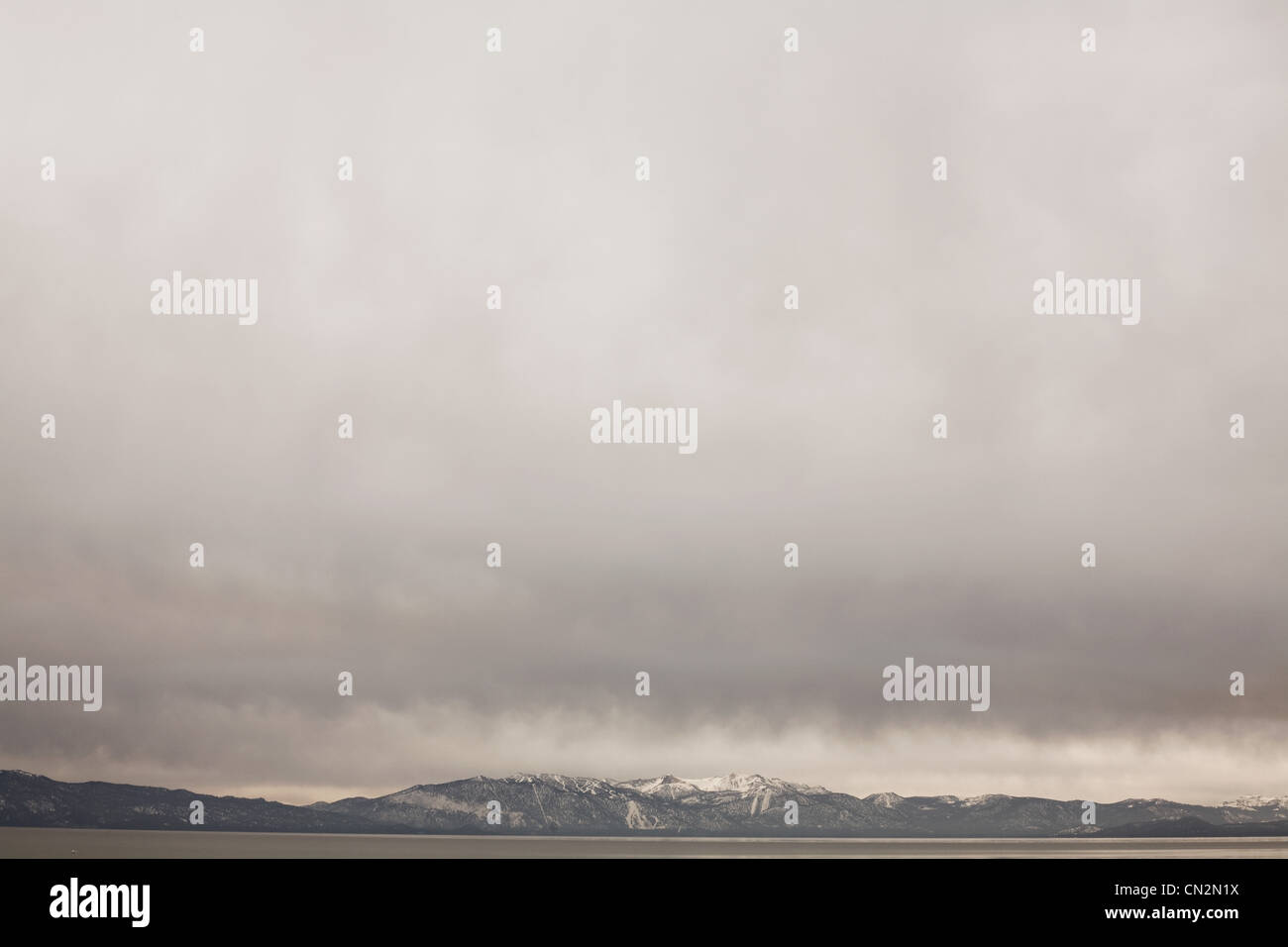 Storm cloud, Lake Tahoe, California, USA Stock Photo