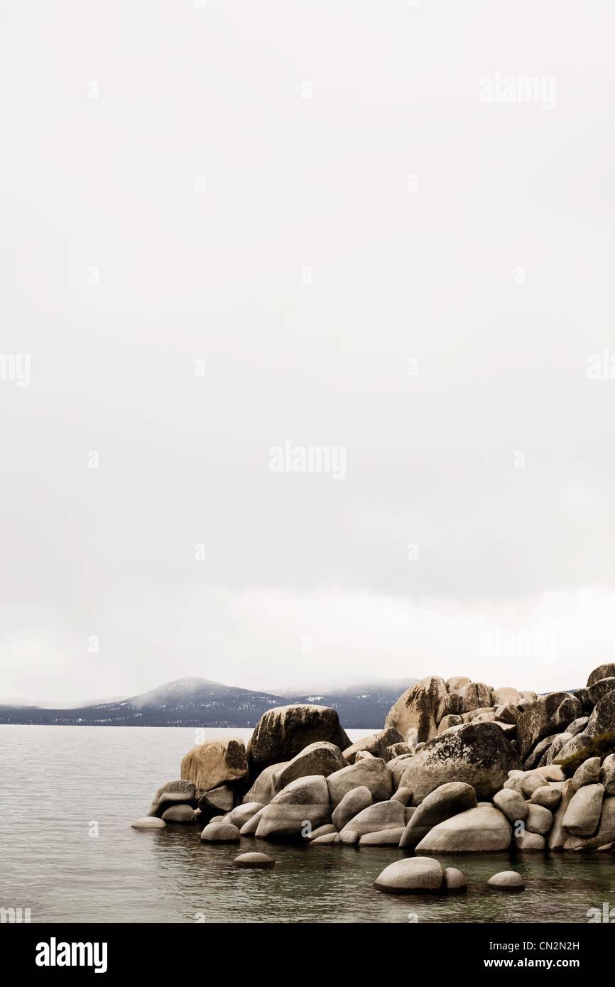 Rocks at Lake Tahoe, California, USA Stock Photo