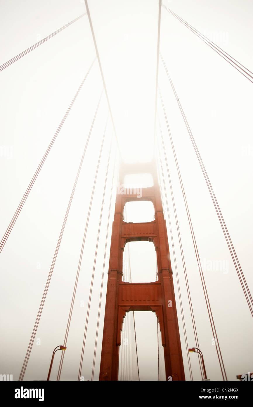 Golden gate Bridge, low angle view - Stock Image