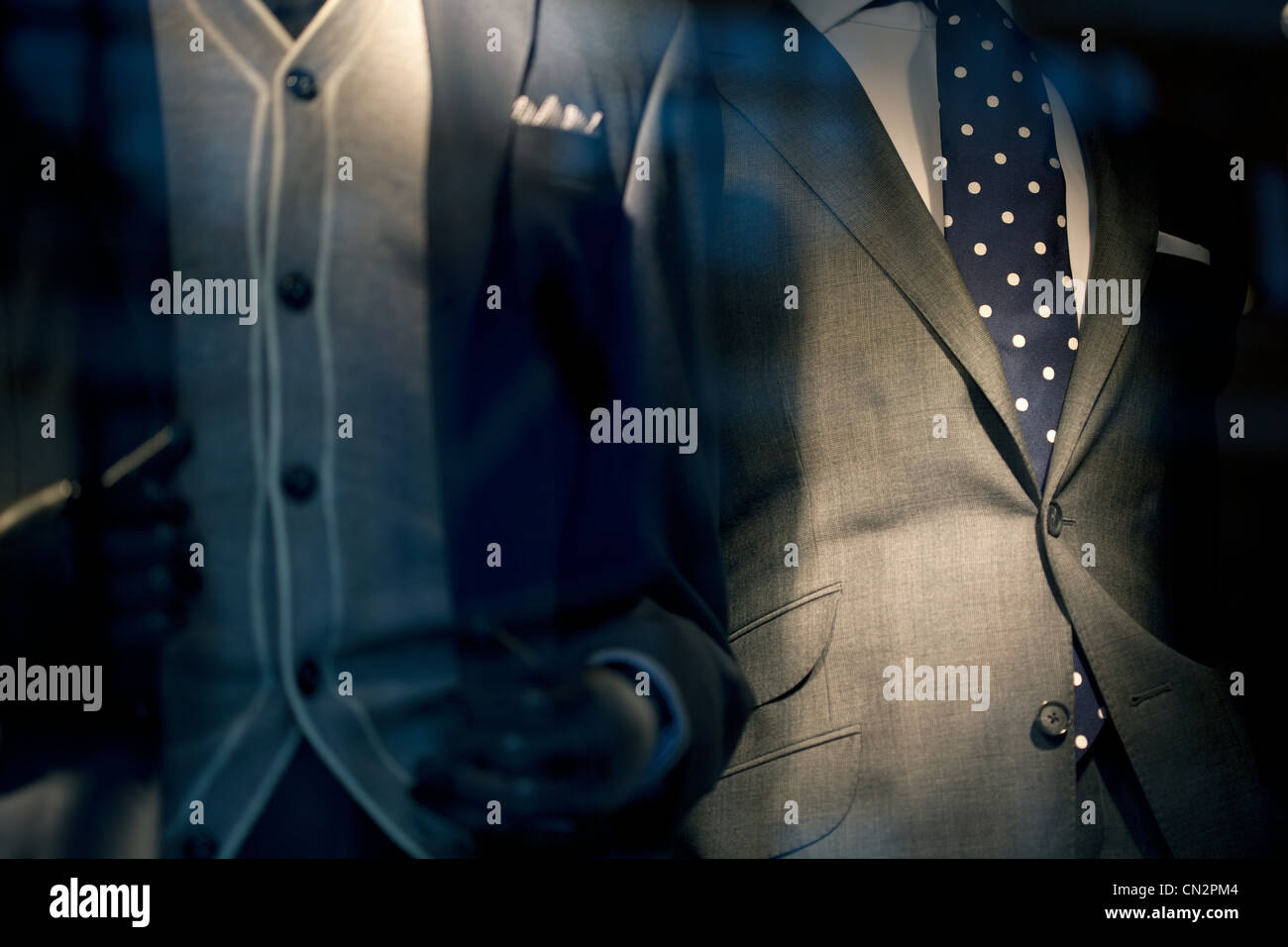 Two suits, close up - Stock Image