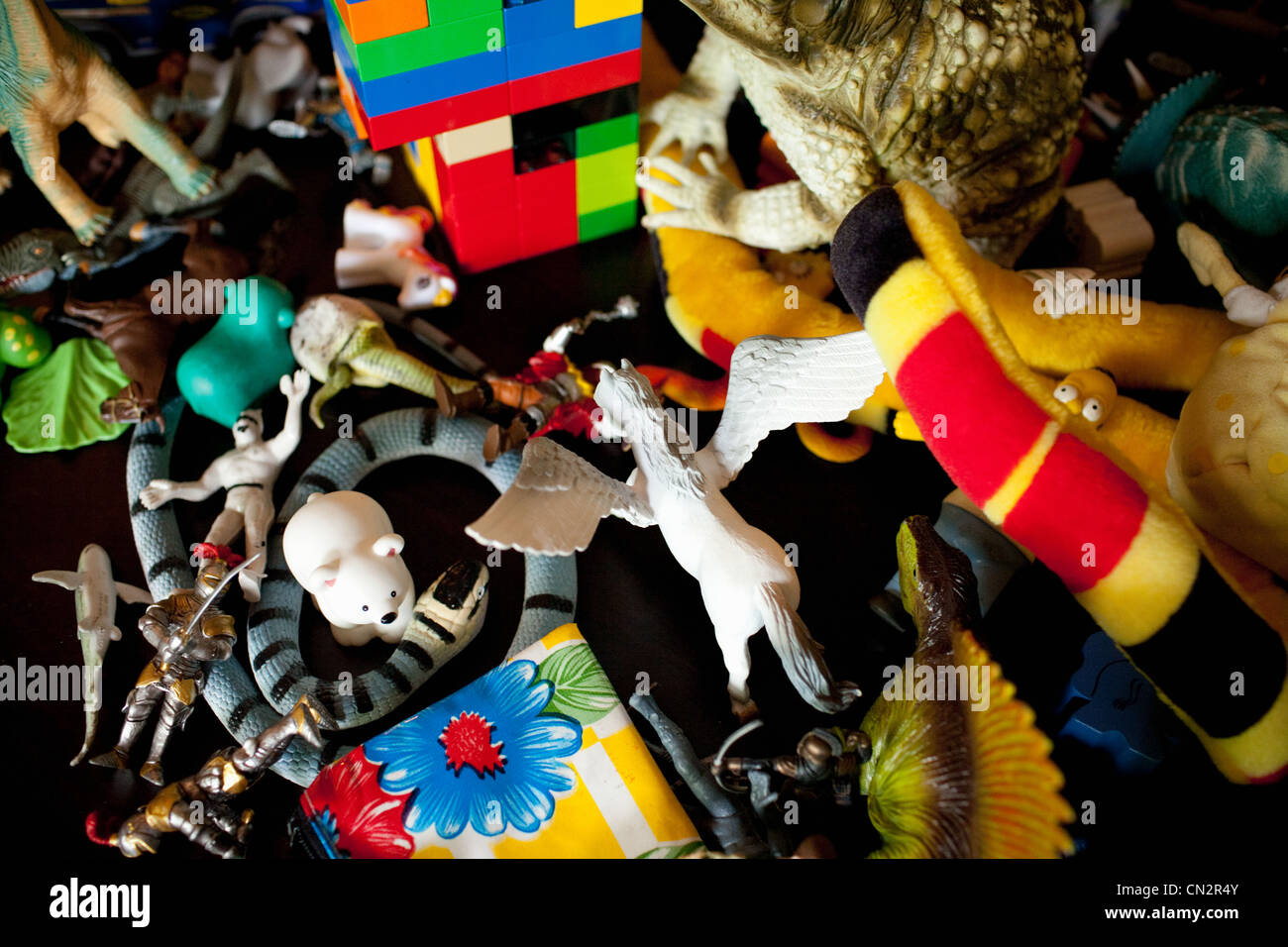 Childhood toys, close up - Stock Image
