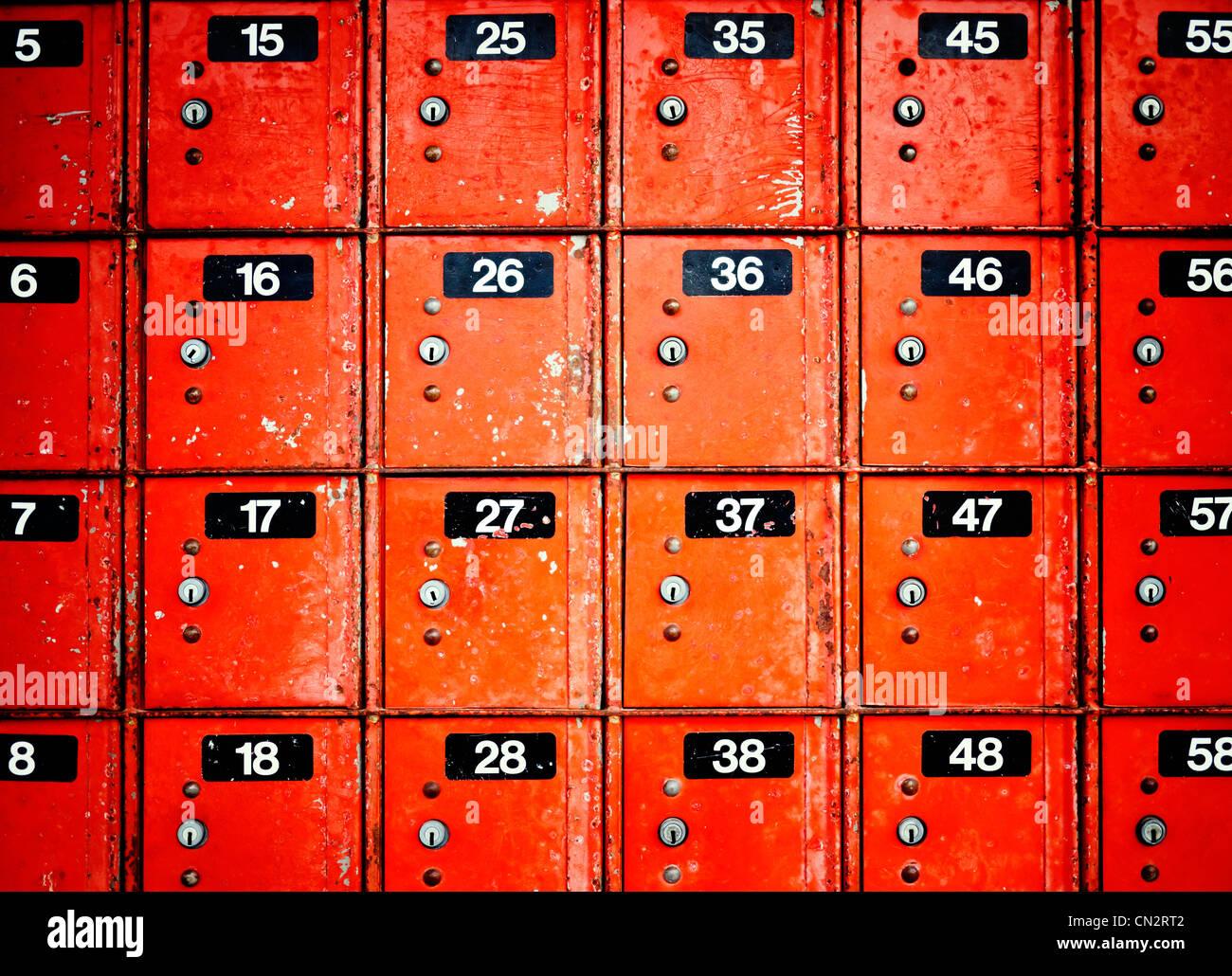 PO Boxes, New Zealand. - Stock Image