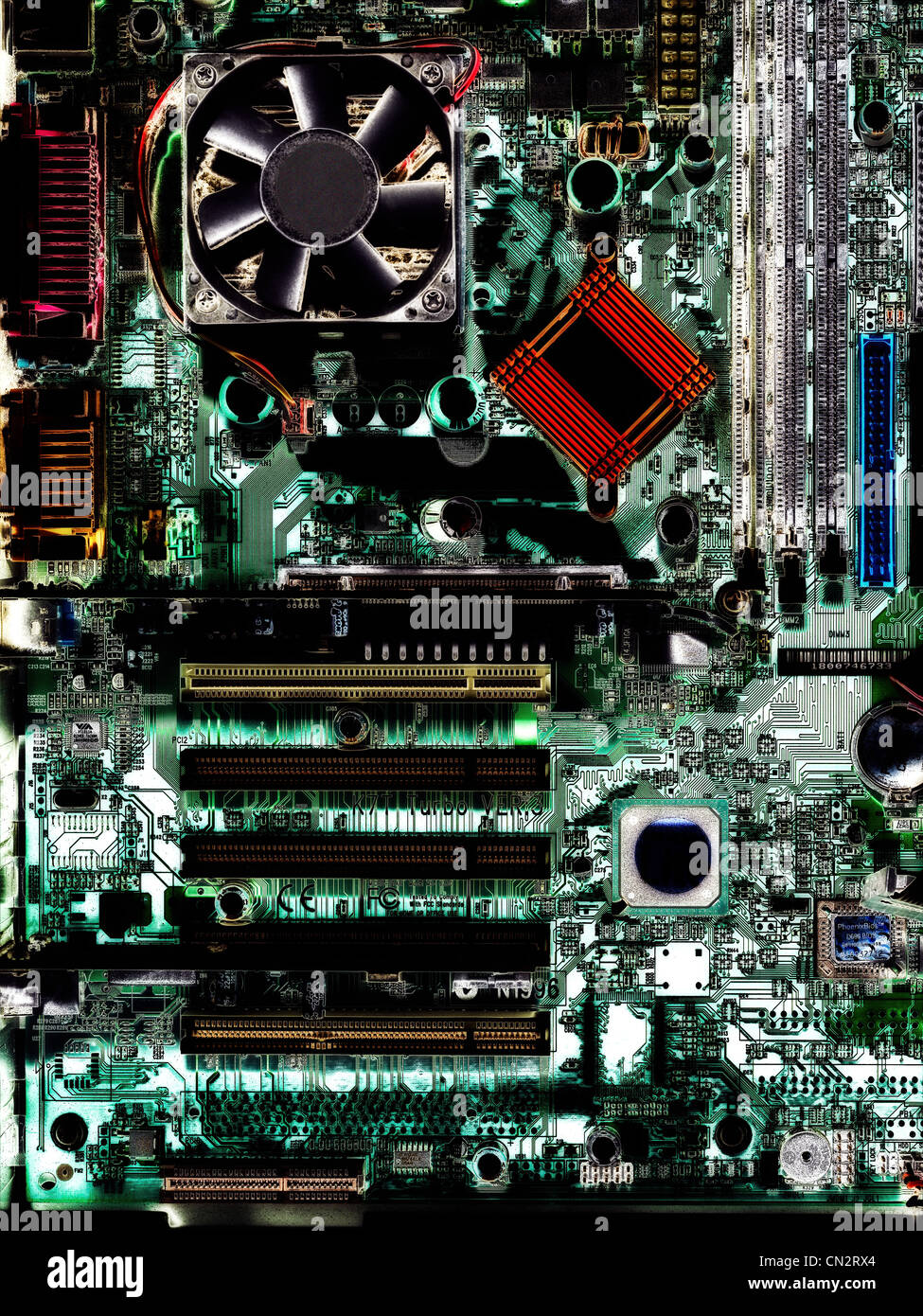 Inside a computer - Stock Image