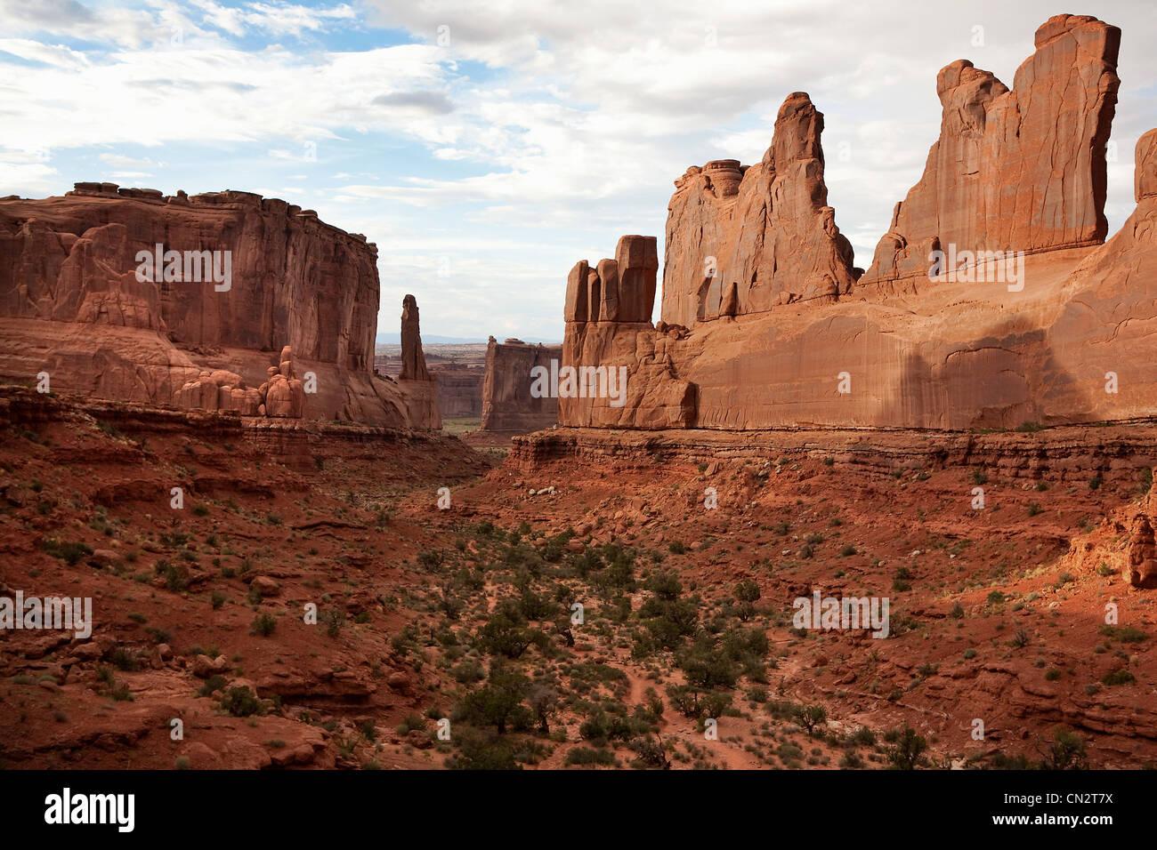 Red rocks of Moab, Utah, USA - Stock Image