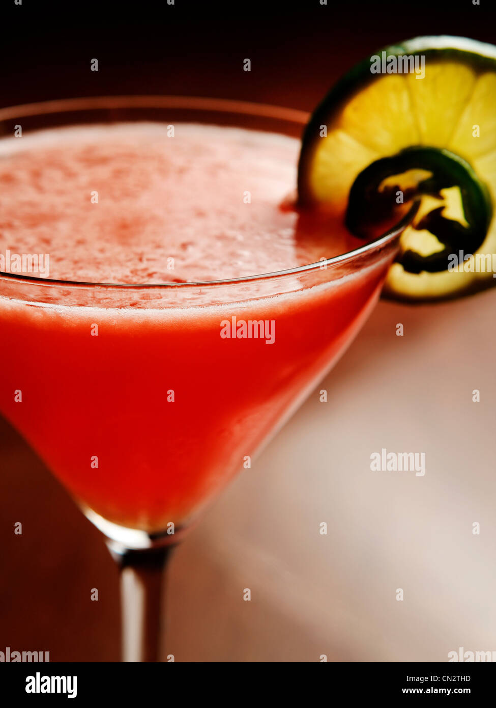 Red cocktail - Stock Image
